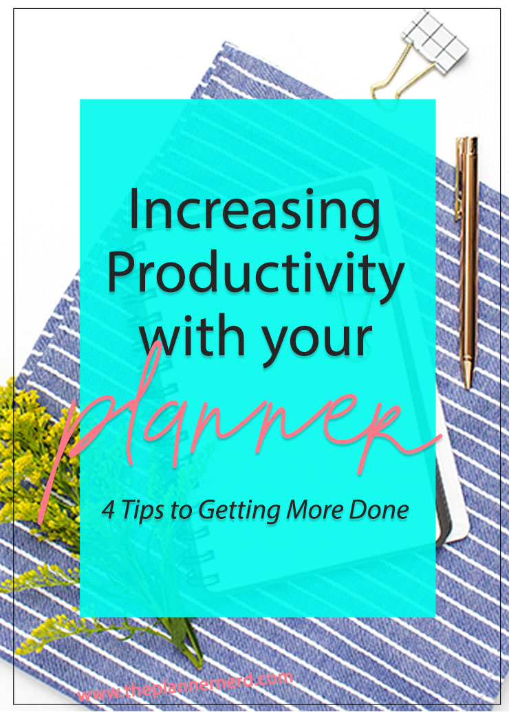 How to better use your planner productively